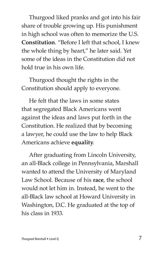 Book Preview For Good for Thurgood! Page 7