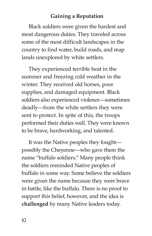 Book Preview For The Buffalo Soldiers Page 10