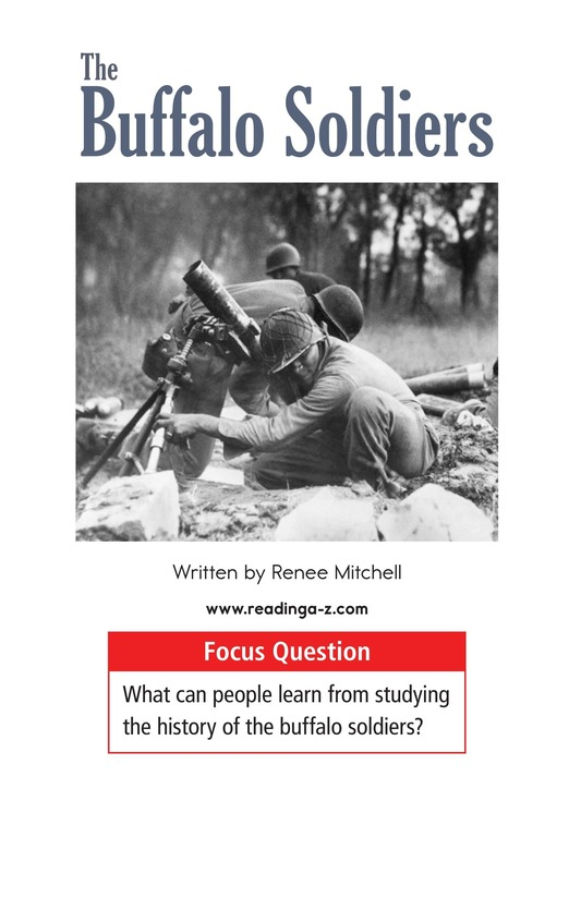 Book Preview For The Buffalo Soldiers Page 1