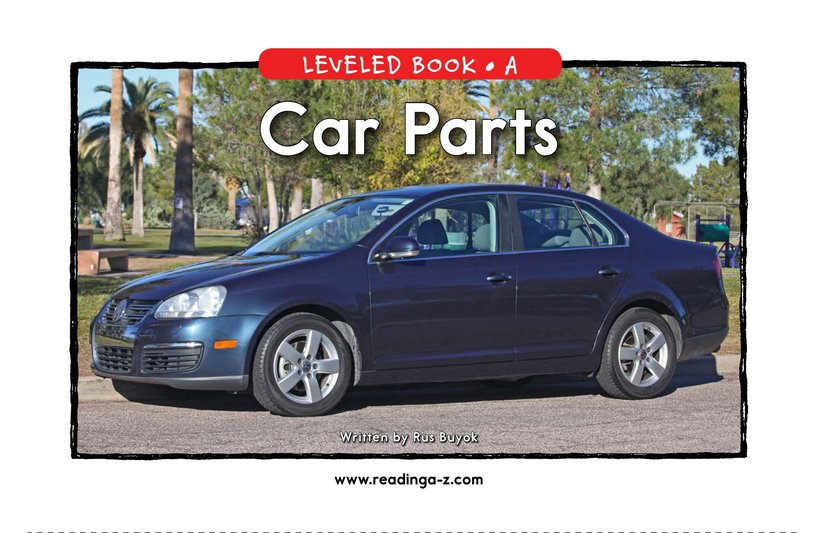 Book Preview For Car Parts Page 1