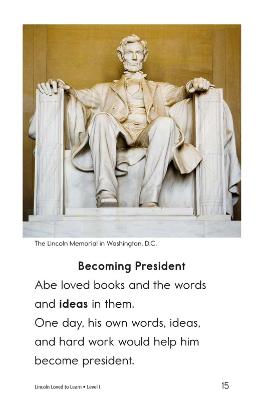 Book Preview For Lincoln Loved to Learn Page 15