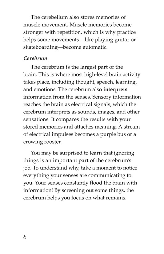 Book Preview For The Amazing Brain Page 6