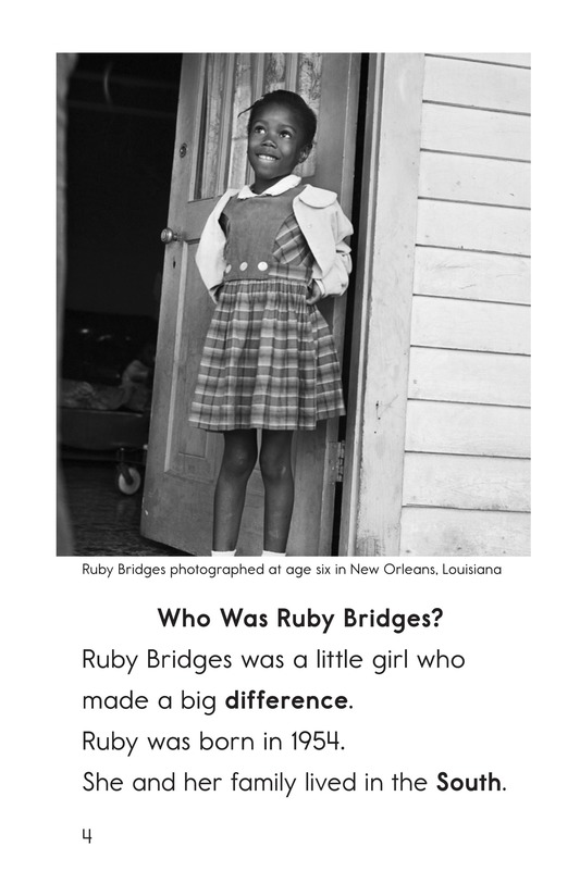 Book Preview For Ruby Bridges Page 4