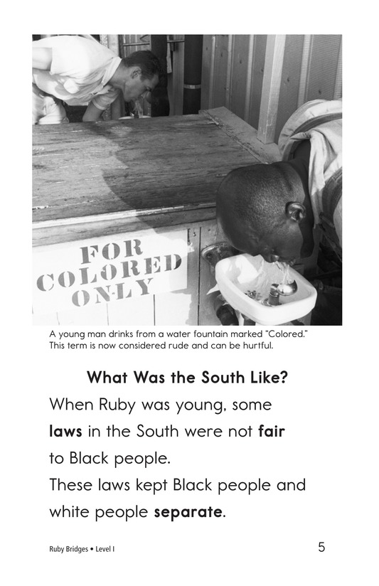 Book Preview For Ruby Bridges Page 5