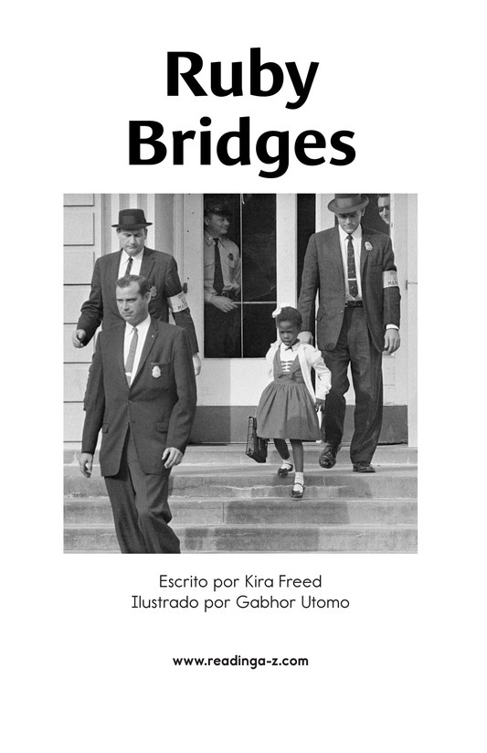 Book Preview For Ruby Bridges Page 1