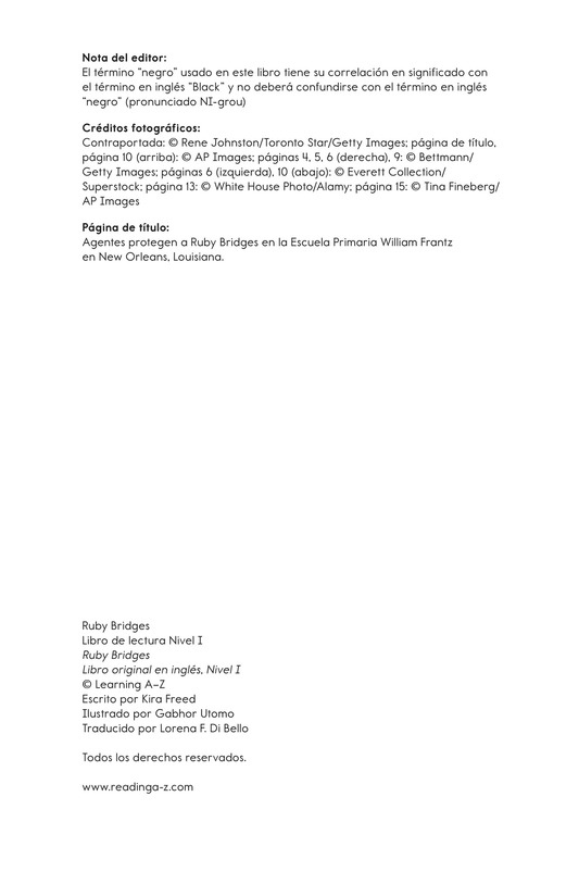 Book Preview For Ruby Bridges Page 2