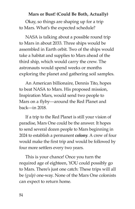 Book Preview For So You Want To Go To Mars? Page 14
