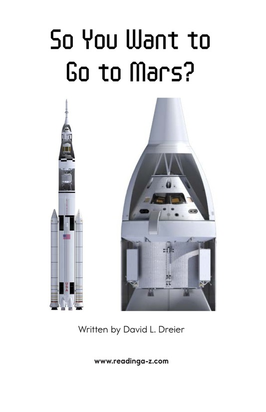 Book Preview For So You Want To Go To Mars? Page 2