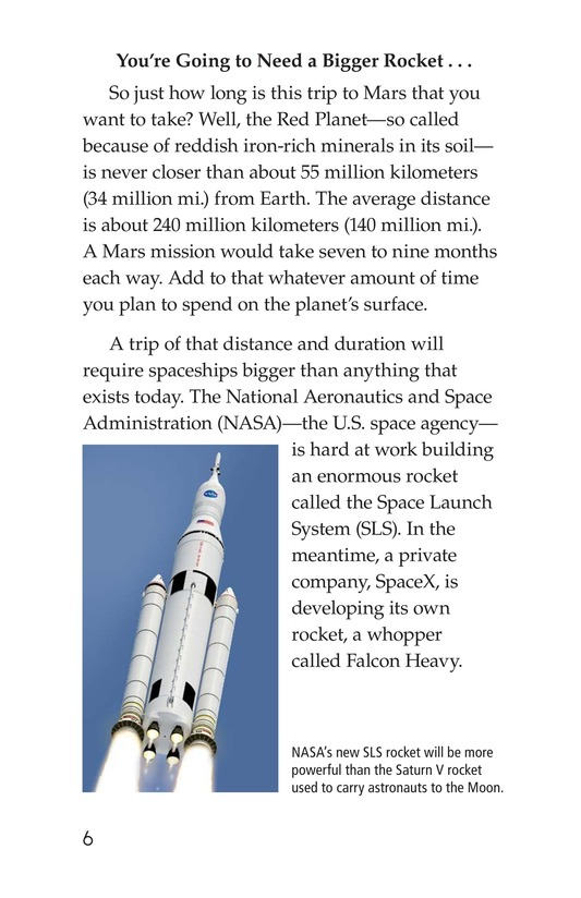 Book Preview For So You Want To Go To Mars? Page 6