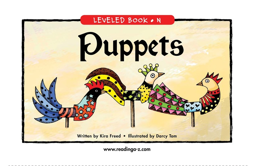 Book Preview For Puppets Page 1