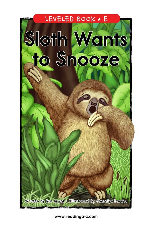 Book Preview For Sloth Wants to Snooze Page 1