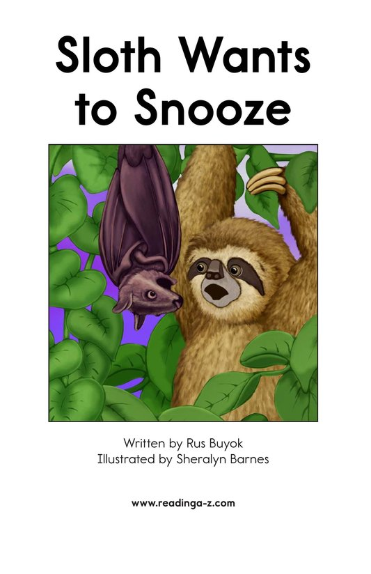 Book Preview For Sloth Wants to Snooze Page 2