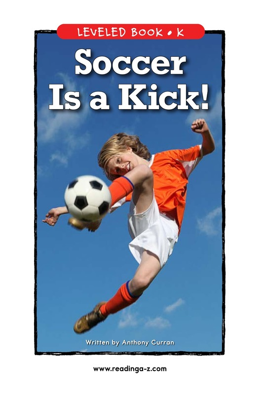 Book Preview For Soccer Is a Kick! Page 1