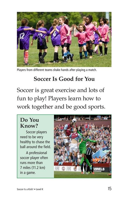 Book Preview For Soccer Is a Kick! Page 15