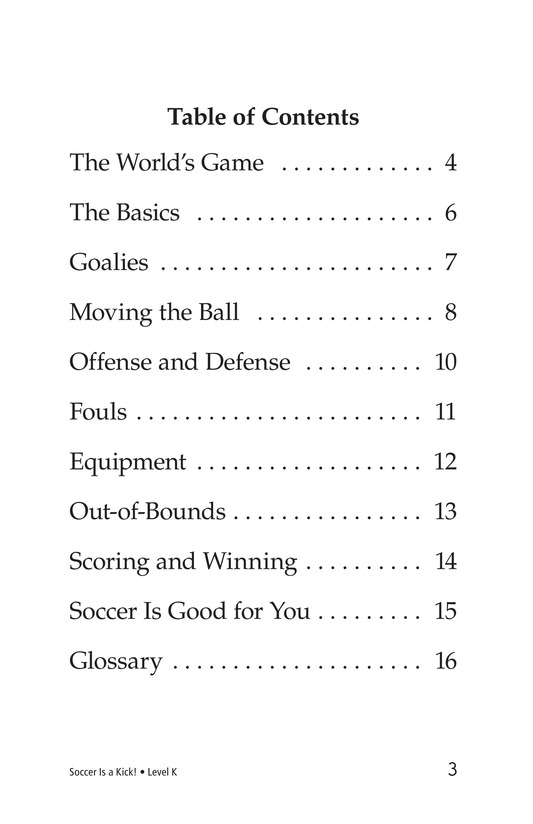 Book Preview For Soccer Is a Kick! Page 3