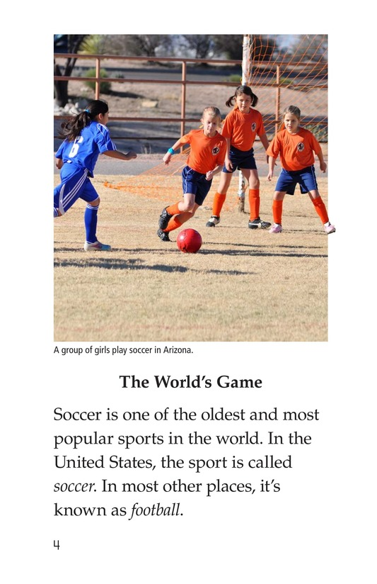 Book Preview For Soccer Is a Kick! Page 4