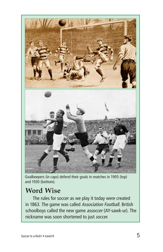 Book Preview For Soccer Is a Kick! Page 5