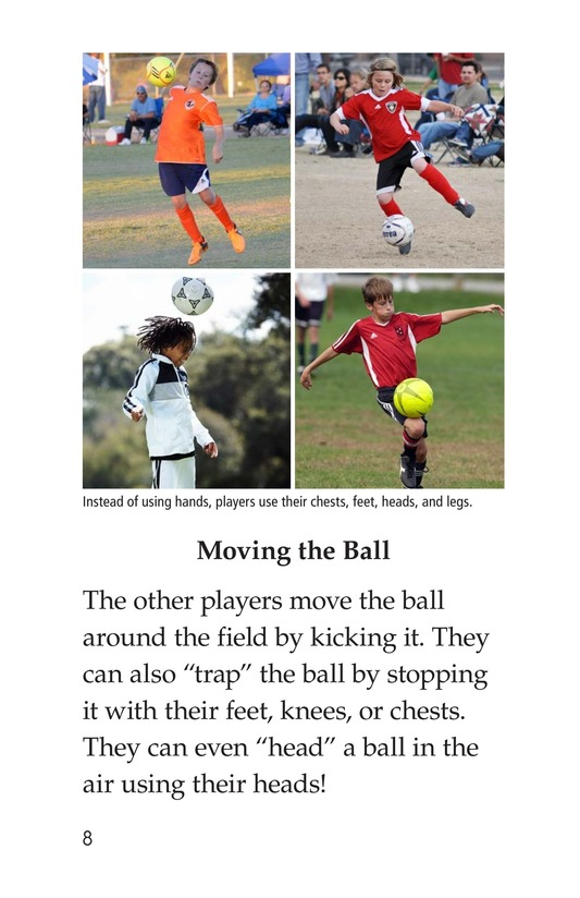 Book Preview For Soccer Is a Kick! Page 8