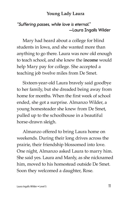 Book Preview For Laura Ingalls Wilder: A Pioneer's Life Page 11
