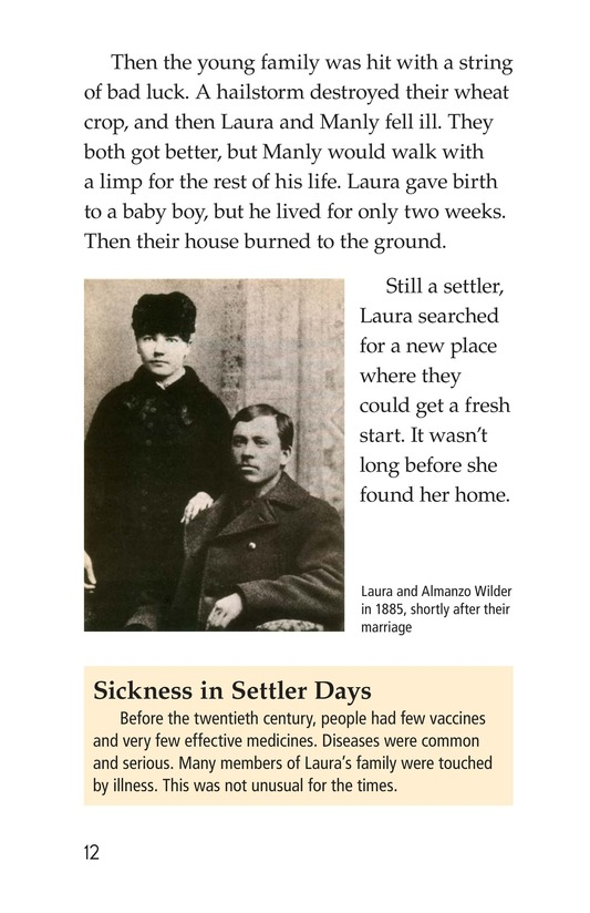 Book Preview For Laura Ingalls Wilder: A Pioneer's Life Page 12