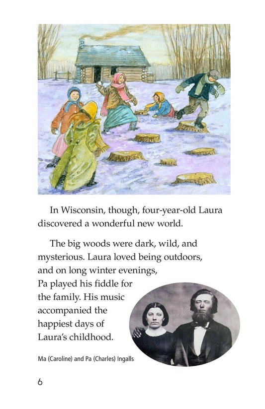 Book Preview For Laura Ingalls Wilder: A Pioneer's Life Page 6