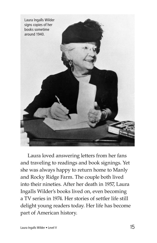 Book Preview For Laura Ingalls Wilder: A Pioneer's Life Page 15