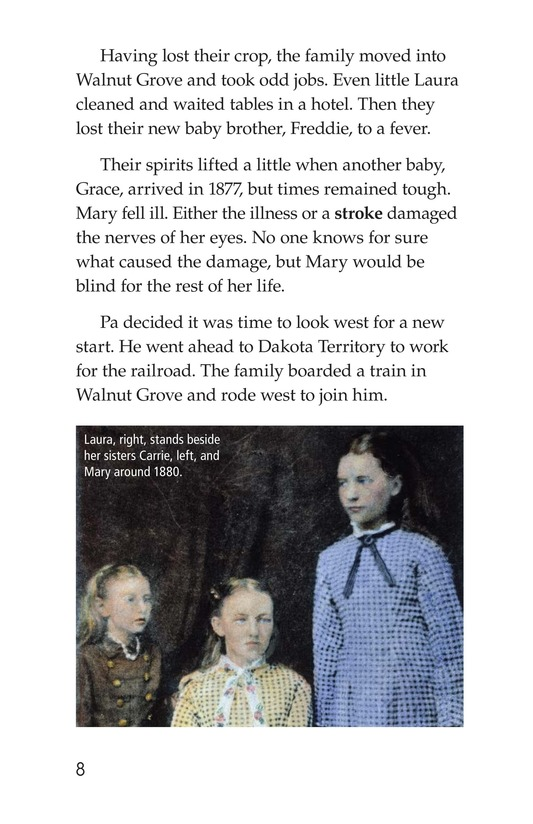 Book Preview For Laura Ingalls Wilder: A Pioneer's Life Page 8