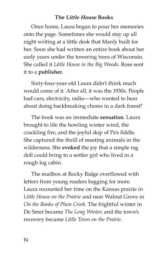 Book Preview For Laura Ingalls Wilder: A Pioneer's Life Page 14