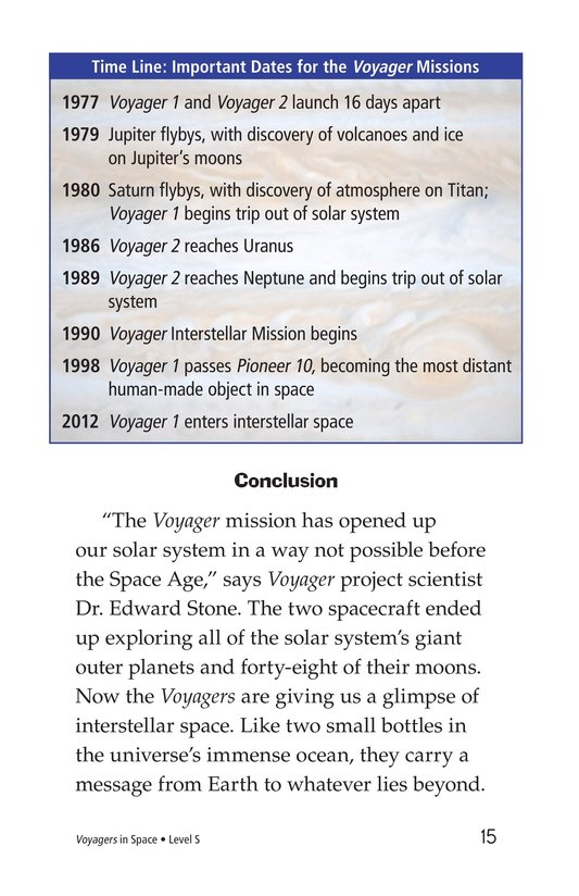 Book Preview For Voyagers in Space Page 15