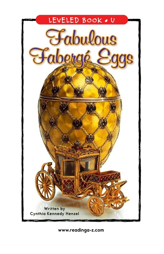 Book Preview For Fabulous Fabergé Eggs Page 1
