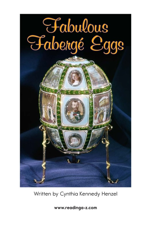 Book Preview For Fabulous Fabergé Eggs Page 2