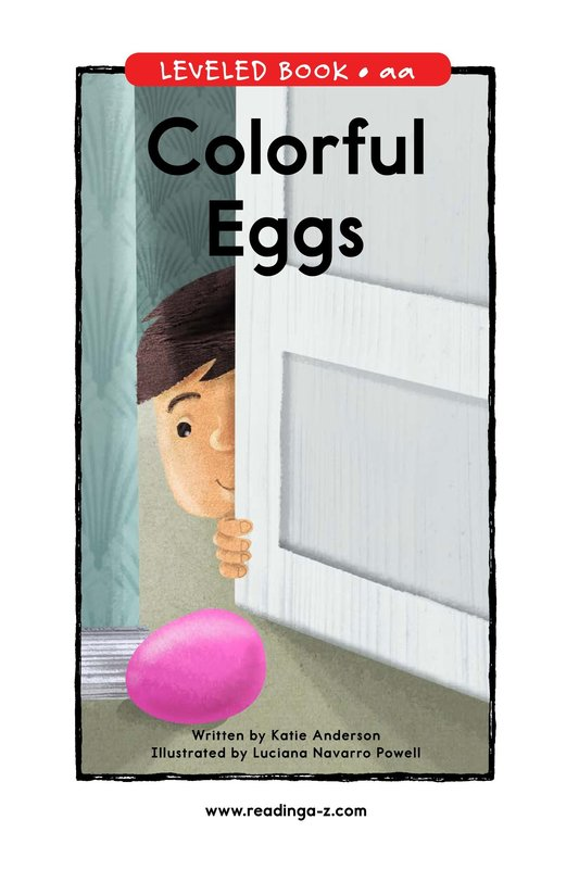 Book Preview For Colorful Eggs Page 1