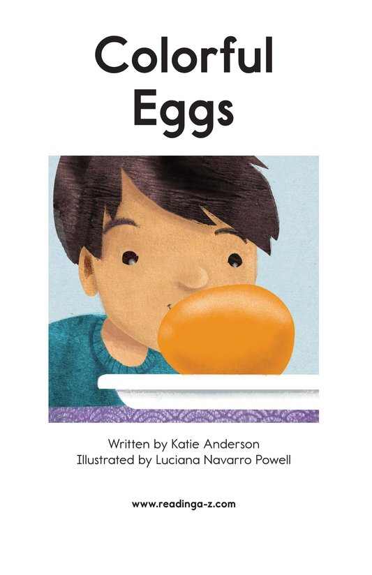 Book Preview For Colorful Eggs Page 2