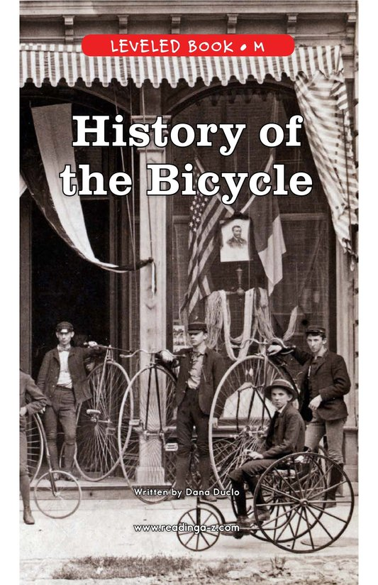 Book Preview For History of the Bicycle Page 1