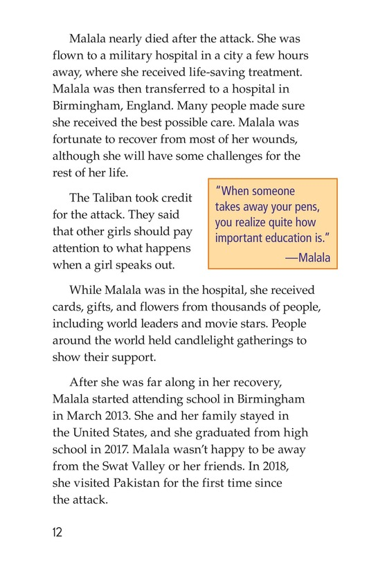 Book Preview For Malala the Brave Page 12