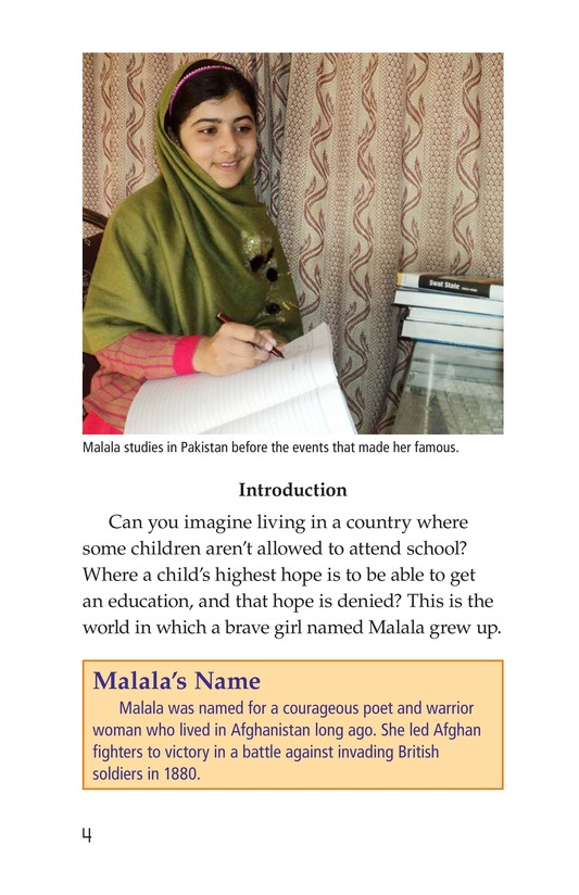 Book Preview For Malala the Brave Page 4