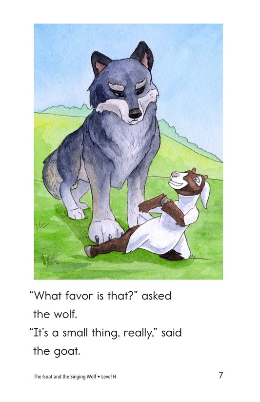 Book Preview For The Goat and the Singing Wolf Page 7