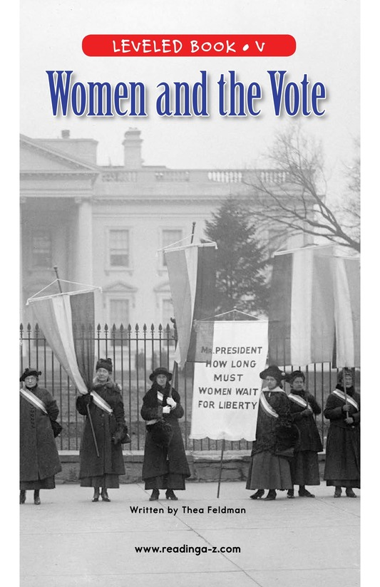 Book Preview For Women and the Vote Page 1