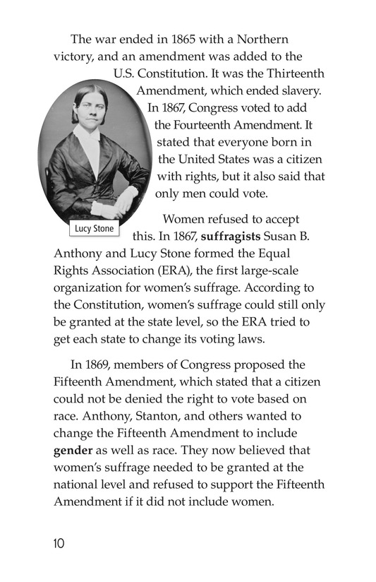 Book Preview For Women and the Vote Page 10