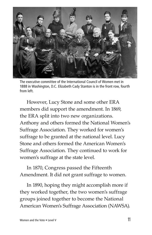 Book Preview For Women and the Vote Page 11