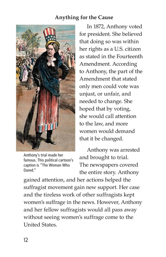 Book Preview For Women and the Vote Page 12