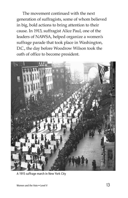 Book Preview For Women and the Vote Page 13