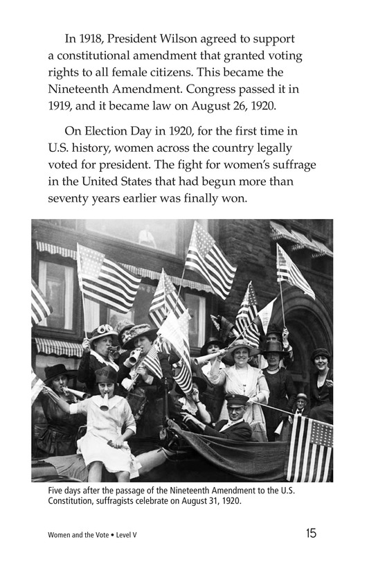 Book Preview For Women and the Vote Page 15