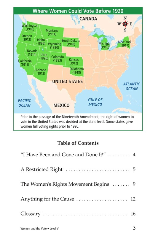 Book Preview For Women and the Vote Page 3