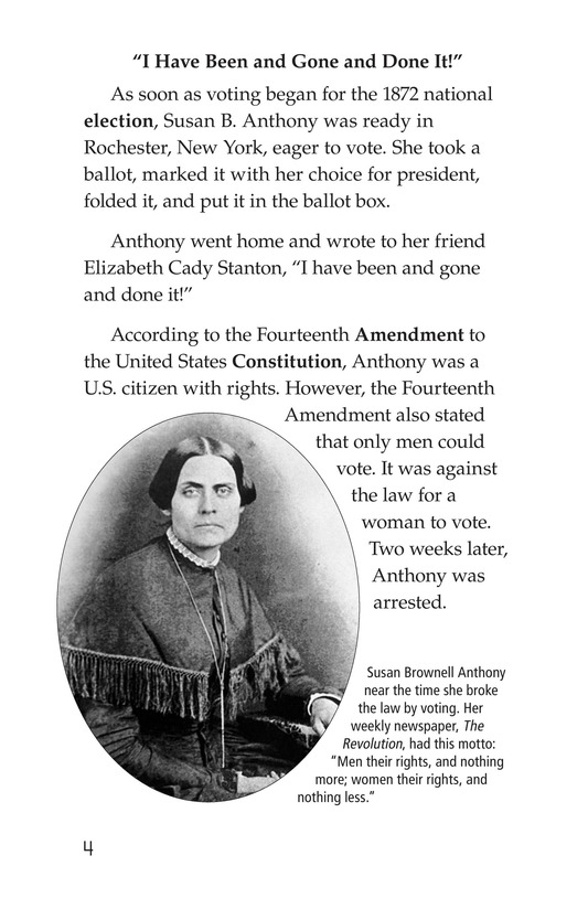 Book Preview For Women and the Vote Page 4