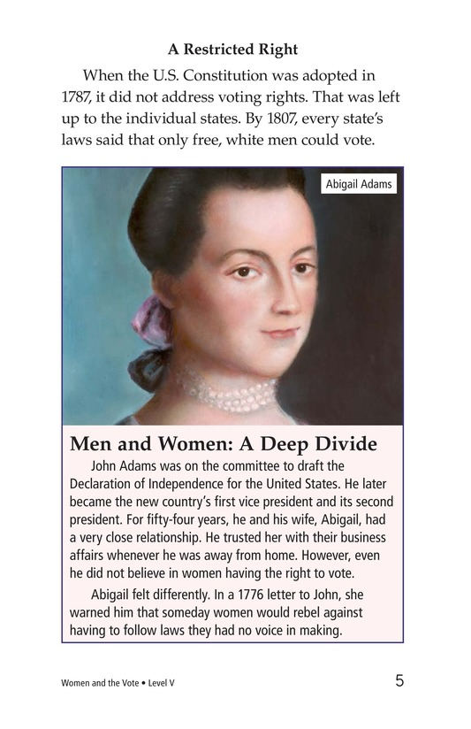Book Preview For Women and the Vote Page 5
