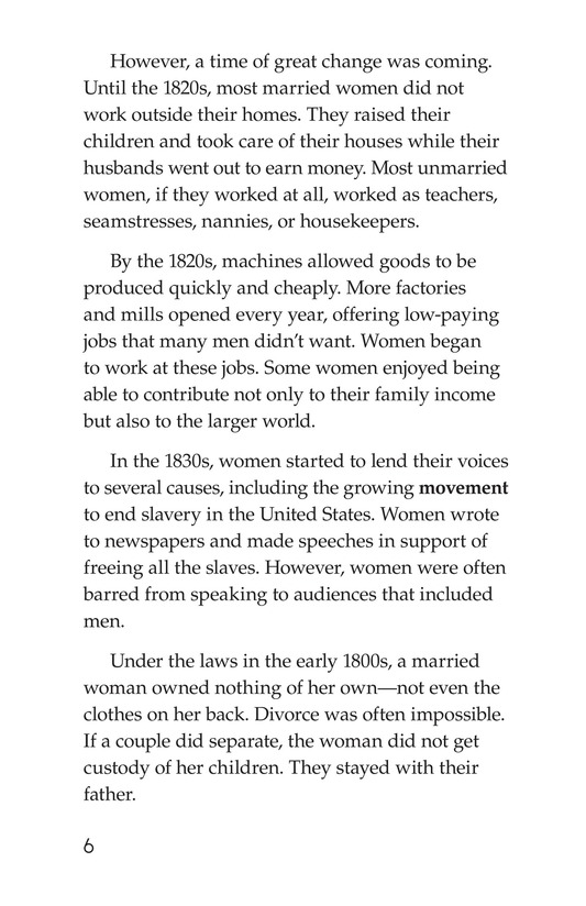 Book Preview For Women and the Vote Page 6