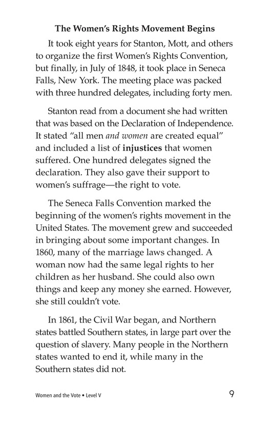 Book Preview For Women and the Vote Page 9