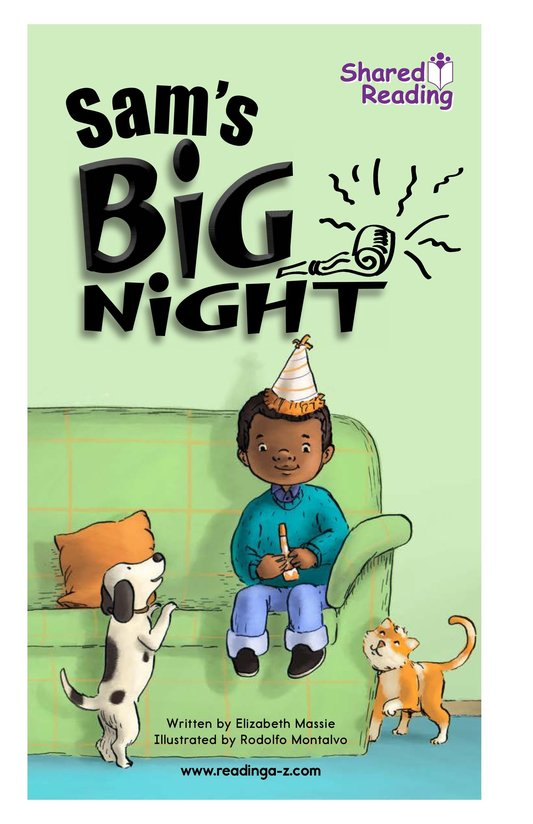 Book Preview For Sam's Big Night Page 1