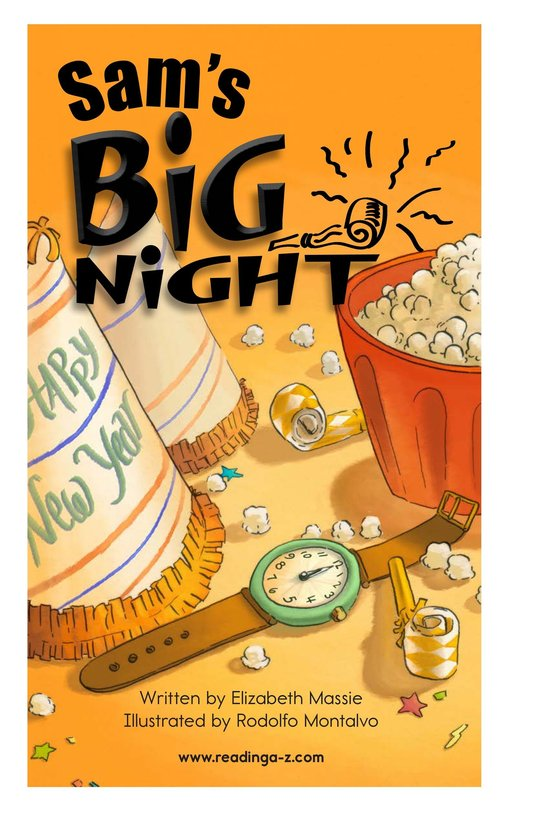 Book Preview For Sam's Big Night Page 2